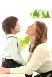 Adorable kid and mother Stock Photo