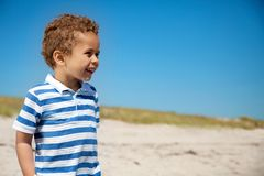 Adorable Kid Outdoors Looking Happy Royalty Free Stock Photography