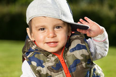 Adorable kid. Portrait of a playful arabic kid Royalty Free Stock Photos