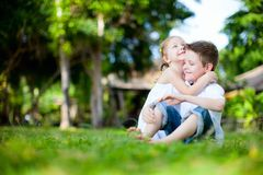 Adorable kids outdoors Royalty Free Stock Photo