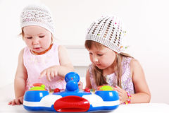 Adorable kids playing Royalty Free Stock Photos