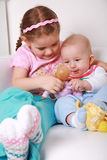 Adorable kids playing. Playing together Royalty Free Stock Images