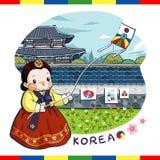 Adorable Korea poster Stock Photography