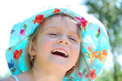 Adorable laughing little girl Royalty Free Stock Photos