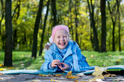 Adorable laughing little girl Stock Photos