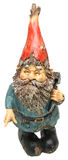 Adorable Lawn Gnome with Hammer. Over white Royalty Free Stock Photos
