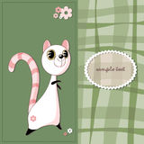 Adorable lemur with flowers on the background to abstract the cage. Royalty Free Stock Photography