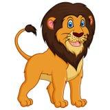 Adorable lion cartoon on white background Royalty Free Stock Photo