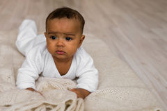 Adorable little african american baby boy - Black people Royalty Free Stock Photography