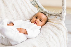 Adorable little african american baby boy - Black people Royalty Free Stock Image