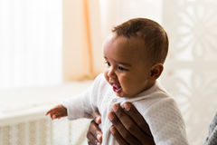 Adorable little african american baby boy - Black people Stock Photography