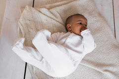 Adorable little african american baby boy - Black people Stock Photos
