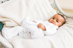 Adorable little african american baby boy looking - Black people Stock Photo