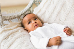 Adorable little african american baby boy smiling - Black people Royalty Free Stock Image