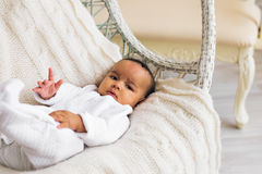 Adorable little african american baby boy smiling - Black people Stock Images