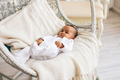 Adorable little african american baby boy smiling - Black people Stock Photos