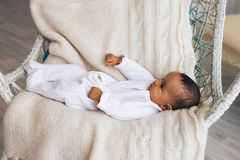 Adorable little african american baby boy smiling - Black people Royalty Free Stock Photo