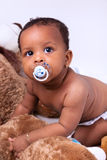 Adorable little african american baby girl Stock Photography