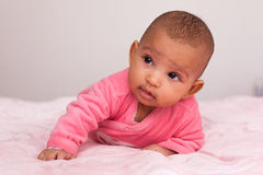 Adorable little african american baby girl Royalty Free Stock Photos