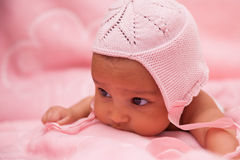 Adorable little african american baby girl Royalty Free Stock Images