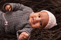 Adorable little african american baby girl Royalty Free Stock Photography