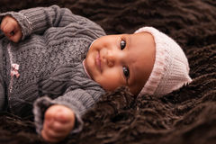 Adorable little african american baby girl Stock Photo