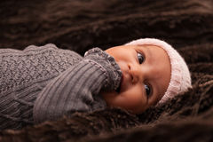 Adorable little african american baby girl Royalty Free Stock Photo
