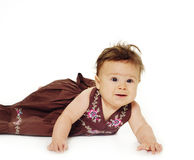 Adorable little baby royalty free stock image
