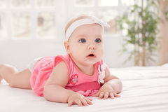 Adorable little baby with blue eyes Stock Images