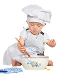 Adorable little baby chef Stock Image