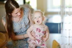 Adorable little baby girl Stock Photos