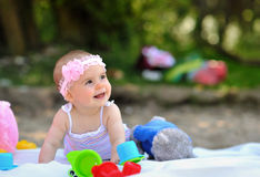 Adorable little baby girl smiling Royalty Free Stock Photography