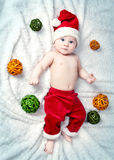 Adorable little baby Santa Claus Royalty Free Stock Image