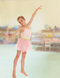 Adorable little ballerina royalty free stock photos