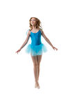 Adorable little ballerina posing in motion Royalty Free Stock Photos