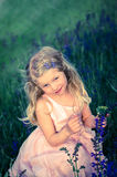 Adorable little blond child Royalty Free Stock Images