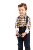 Adorable little boy crying Stock Photos