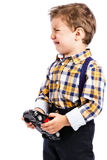 Adorable little boy crying Royalty Free Stock Photography