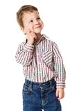Adorable little boy looking sideways Royalty Free Stock Photography