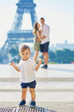 Adorable Little Boy Making His First Steps Stock Photos