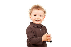 Adorable little boy smiling stock photography