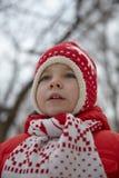 Adorable little boy in winter park Royalty Free Stock Photos