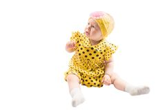 Adorable little child girl  isolated on white Stock Image