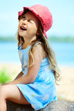 Adorable little child outdoors Royalty Free Stock Photos