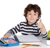 Adorable little child in the school Royalty Free Stock Photography