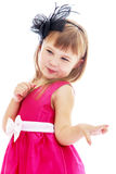 Adorable little fashion girl with beautiful hair Royalty Free Stock Photography