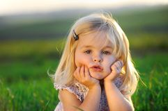 Adorable little girl Stock Photos