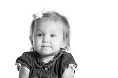 Adorable little girl. With bow in her hair Royalty Free Stock Photo