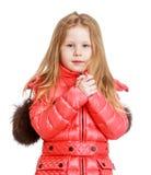 Adorable little girl in autumn coat Royalty Free Stock Photos