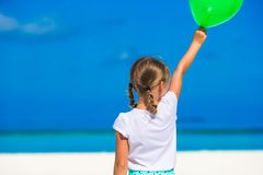 Adorable little girl with balloon outdoor Stock Photo